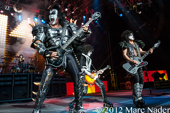 KISS Performing at DTE Energy Music Theatre Clarkston MI ...