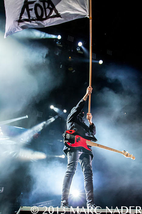 Fall Out Boy performing on the 2013 Save Rock and Roll ...