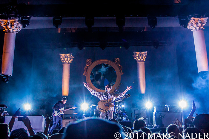 Vampire Weekend performing on the Modern Vampires of the City Tour at the Meadow Brook Music Festival in Rochester Hills, MI on June 6th 2014 Photo by Marc Nader