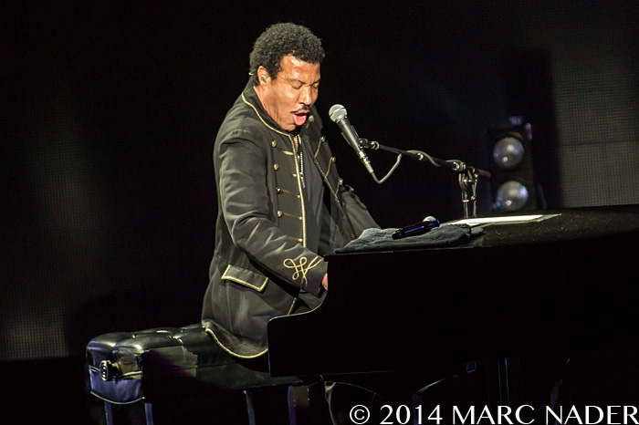 Lionel Richie on his birthday on the All Hits All Night Long Tour at DTE Energy Music Theatre in Clarkston Mi on June 20th 2014 Photo by Marc Nader