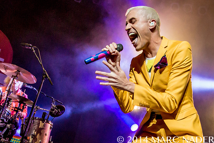 Neon Trees performing on their 'Pop Psychology' Tour at The Fillmore in Detroit, MI on June 29th 2014 Photo by Marc Nader
