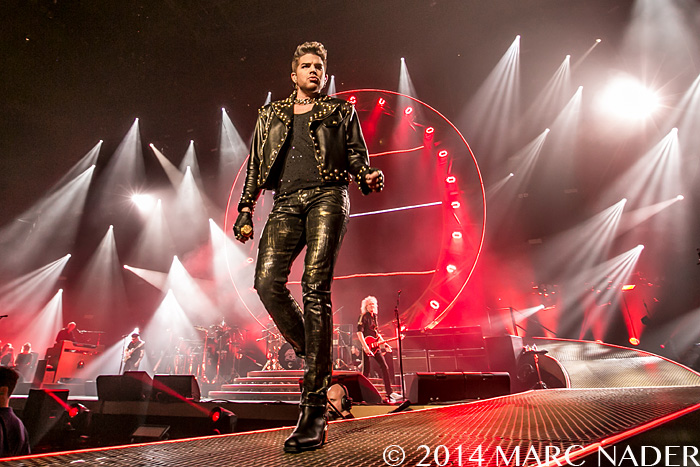 Queen + Adam Lambert performing on their 2014 North American Tour at the Palace of Auburn Hills  in Auburn Hills, MI on July 12th 2014 Photo by Marc Nader
