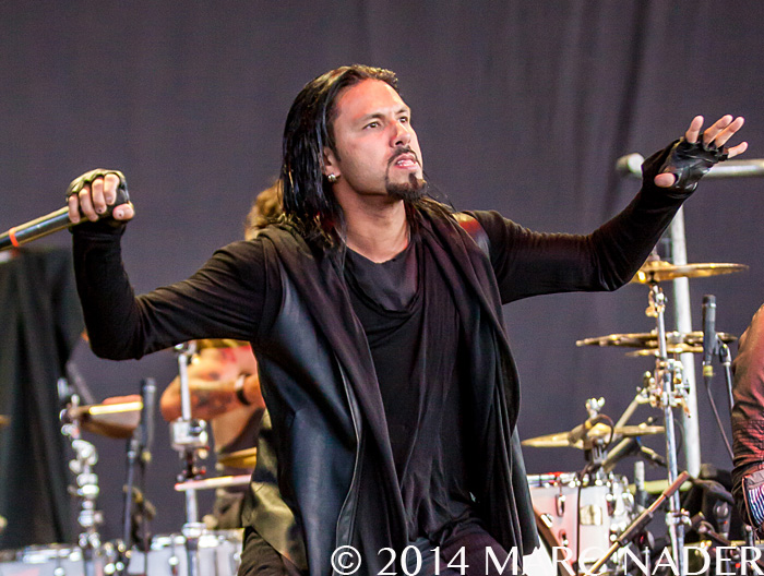 Pop Evil performing on the 2014 Rockstar Energy Drink Uproar Festival at DTE Energy Music Theatre in Clarkston Mi on August 15th 2014 Photo by Marc Nader