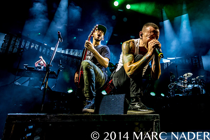 Linkin Park performing on their Carnivores Tour at DTE Energy Music Theatre in Clarkston Mi on August 30th 2014 Photo by Marc Nader