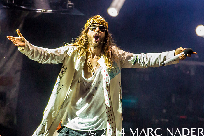 30 Seconds to Mars performing on the Carnivores Tour at DTE Energy Music Theatre in Clarkston Mi on August 30th 2014 Photo by Marc Nader