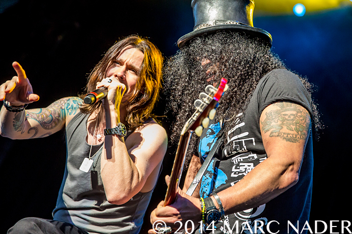 Slash featuring Myles Kennedy performing on the Let Rock Rule Tour at DTE Energy Music Theatre in Clarkston Mi on September 9th 2014 Photo by Marc Nader