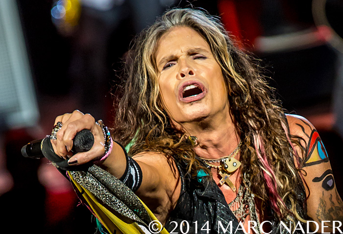 Aerosmith performing on their Let Rock Rule Tour at DTE Energy Music Theatre in Clarkston Mi on September 9th 2014 Photo by Marc Nader