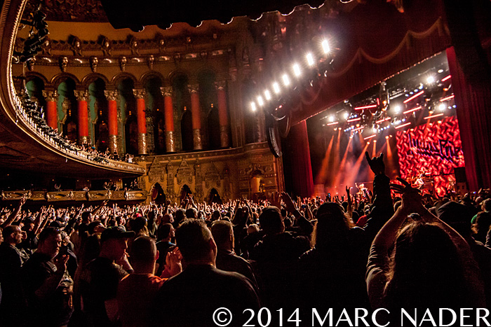 Judas Priest performing on their Redeemer of Souls Tour at The Fox Theatre in Detroit, MI on October 19th 2014 Photo by Marc Nader