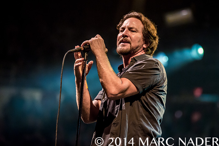 Pearl Jam performing on their Lightning Bolt Tour at the Joe Louis Arena in Detroit, MI on October 16th 2014 Photo by Marc Nader