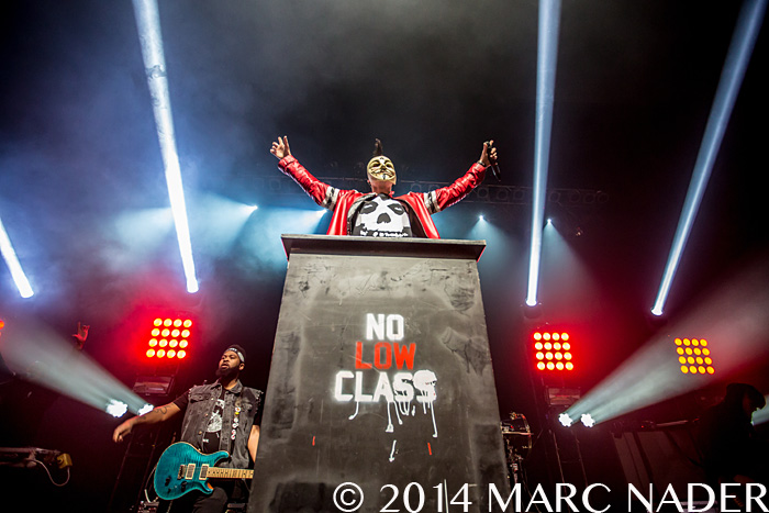 Machine Gun Kelly performing on Limp Biskits USA Tour 2014 at The Fillmore in Detroit, MI on October 3rd 2014 Photo by Marc Nader