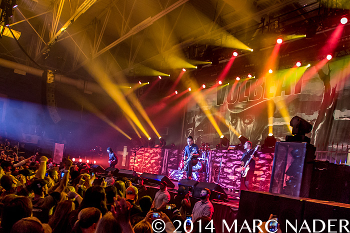 Volbeat performing on the 101 WRIF Rocktober Throwdown at the Compuware Arena in Plymouth, MI on October 8th 2014 Photo by Marc Nader