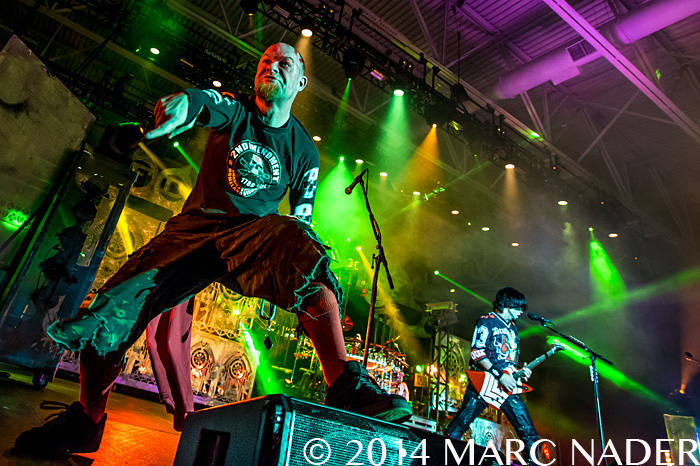 Five Finger Death Punch performing on the 101 WRIF Rocktober Throwdown at the Compuware Arena in Plymouth, MI on October 8th 2014 Photo by Marc Nader