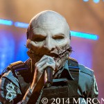 Slipknot performing on the Prepare for Hell Tour at the Palace of Auburn Hills in Auburn Hills, MI on November 29th 2014 Photo by Marc Nader