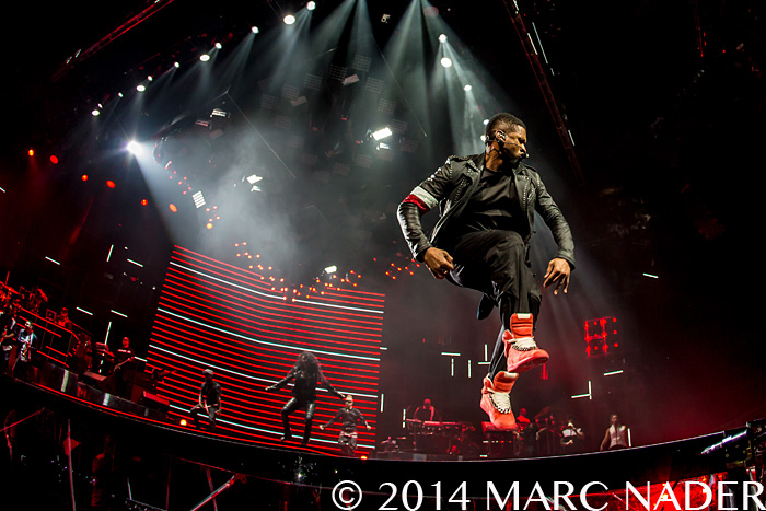 Usher performing on The UR Experience Tour at the Palace of Auburn Hills  in Auburn Hills, MI on November 4th 2014 Photo by Marc Nader