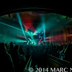 Bassnectar performing on the NVSB Tour at the Masonic Temple Theatre in Detroit, MI on Nov 1st 2014 Photo by Marc Nader