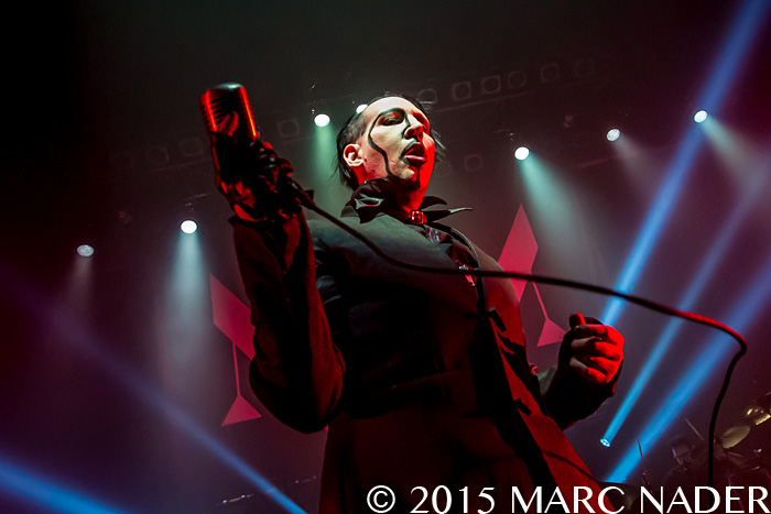 Marilyn Manson performing on The Hell Not Hallelujah Tour at The Fillmore in Detroit, MI on February 3rd 2015 Photo by Marc Nader