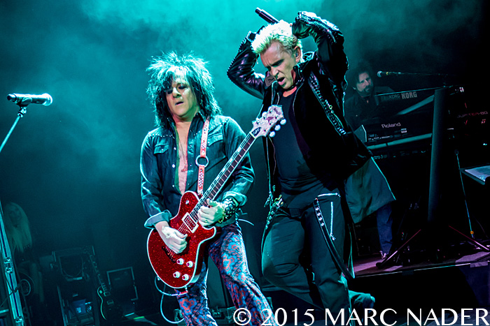 Billy Idol performing on the Kings and Queens of the Underground Tour at The Fillmore in Detroit, MI on February 6th 2015 Photo by Marc Nader