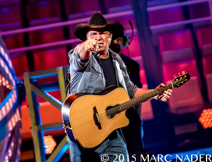Garth Brooks performing on The Garth Brooks World Tour at the Joe Louis Arena in Detroit, MI on February 20th 2015 Photo by Marc Nader