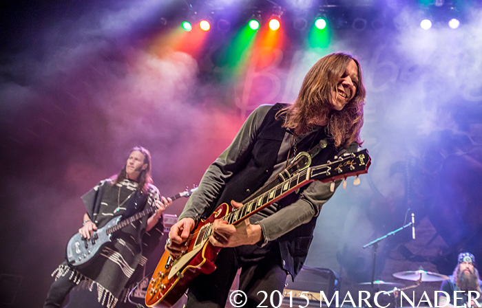 Blackberry Smoke performing on their Holding All The Roses Tour at The Fillmore in Detroit, MI on March 7th 2015 Photo by Marc Nader