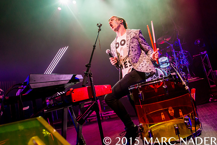 Walk The Moon performing on their Talking is Hard Tour at The Fillmore in Detroit, MI on April 7th 2015 Photo by Marc Nader