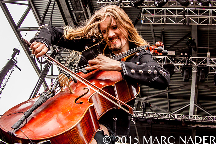 Apocalyptica performs on day one of the 2015 Rock On The Range Festival at Maphre Stadium in Columbus Ohio on May 15th 2015 Photo by Marc Nader