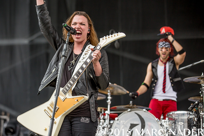 Halestorm performs on the last day of the 2015 Rock On The Range Festival at Maphre Stadium in Columbus Ohio on May 17th 2015 Photo by Marc Nader