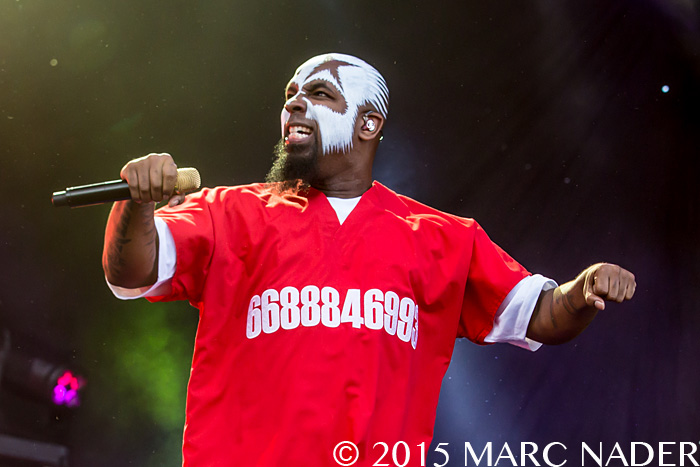 Tech N9ne performs on the last day of the 2015 Rock On The Range Festival at Maphre Stadium in Columbus Ohio on May 17th 2015 Photo by Marc Nader