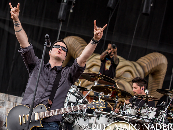 Breaking Benjamin performs on day one of the 2015 Rock On The Range Festival at Maphre Stadium in Columbus Ohio on May 15th 2015 Photo by Marc Nader