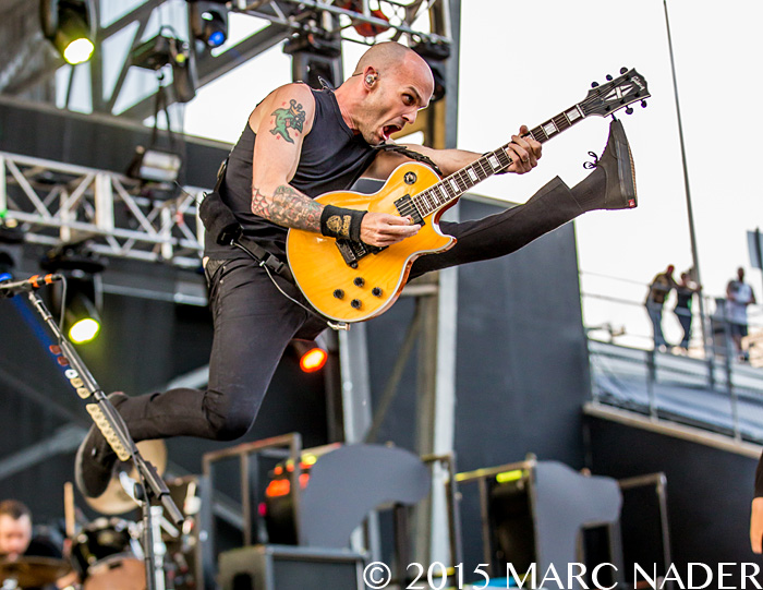 Rise Against performs on the last day of the 2015 Rock On The Range Festival at Maphre Stadium in Columbus Ohio on May 17th 2015 Photo by Marc Nader