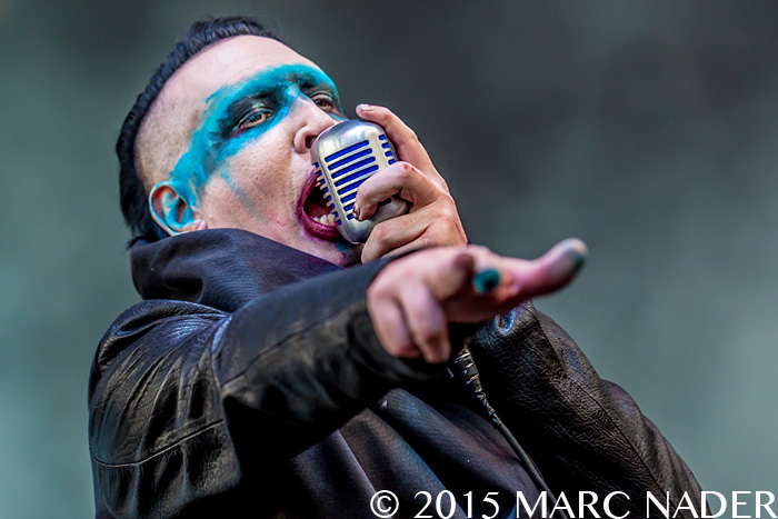Marilyn Manson performs on day one of the 2015 Rock On The Range Festival at Maphre Stadium in Columbus Ohio on May 15th 2015 Photo by Marc Nader