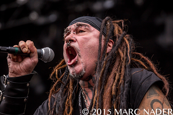 Ministry performs on day Two of the 2015 Rock On The Range Festival at Maphre Stadium in Columbus Ohio on May 16th 2015 Photo by Marc Nader