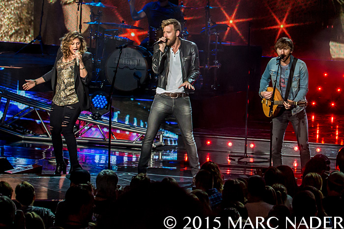 Lady Antebellum performing on the Wheels Up Tour at DTE Energy Music Theatre in Clarkston Mi on June 19th 2015 Photo by Marc Nader