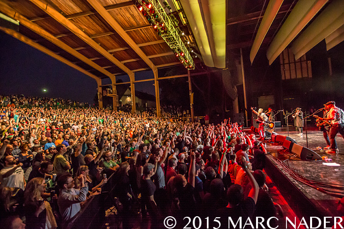Flogging Molly performing at the Meadow Brook Music Festival in Rochester Hills, MI on June 11th 2015 Photo by Marc Nader