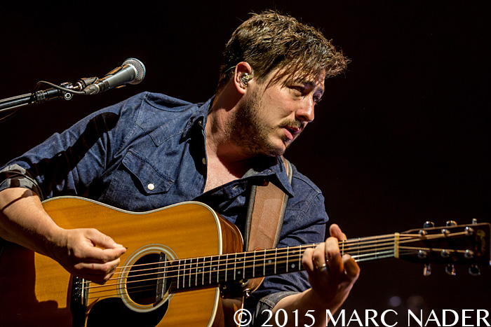 Mumford and Sons performing on the Gentlemen of The Road Tour at DTE Energy Music Theatre in Clarkston Mi on June 16th 2015 Photo by Marc Nader