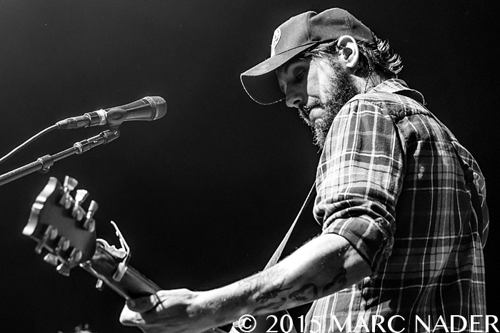 Band of Horses performing on the Promise of the Real Rebel Tour at DTE Energy Music Theatre in Clarkston Mi on July 14th 2015 Photo by Marc Nader