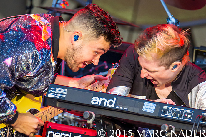 Walk The Moon performing on The Rolling Stones  Zip Code Tour at Comerica Park in Detroit, MI on July 8th 2015 Photo by Marc Nader