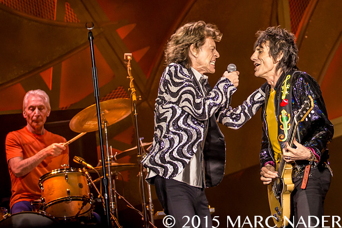 The Rolling Stones performing  on their Zip Code Tour at Comerica Park in Detroit, MI on July 8th 2015 Photo by Marc Nader