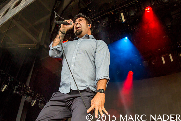 Deftones performing on the U.S. Summer Tour at DTE Energy Music Theatre in Clarkston Mi on July 22nd 2015 Photo by Marc Nader