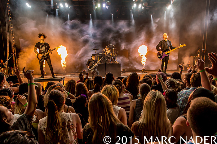 Fall Out Boy performing on the Boys of Zummer Tour at DTE Energy Music Theatre in Clarkston Mi on July 10th 2015 Photo by Marc Nader