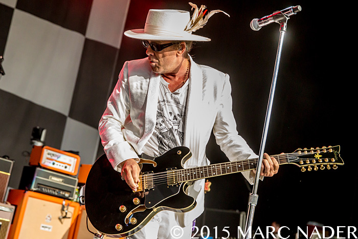 Cheap Trick co-headlining with Peter Frampton at DTE Energy Music Theatre in Clarkston Mi on July 12th 2015 Photo by Marc Nader