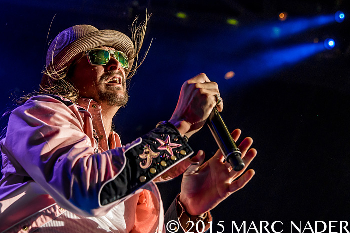 Kid Rock performing on his First Kiss: Cheap Date Tour at DTE Energy Music Theatre in Clarkston, MI on August 11th 2015 Photo by Marc Nader
