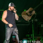 Brantley Gilbert performing on The Big Revival Tour at Ford Field in Detroit, MI on August 22nd 2015 Photo by Marc Nader