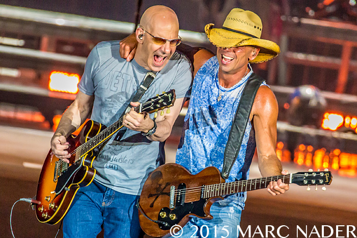 Kenny Chesney performing  on The Big Revival Tour at Ford Field in Detroit, MI on August 22nd 2015 Photo by Marc Nader