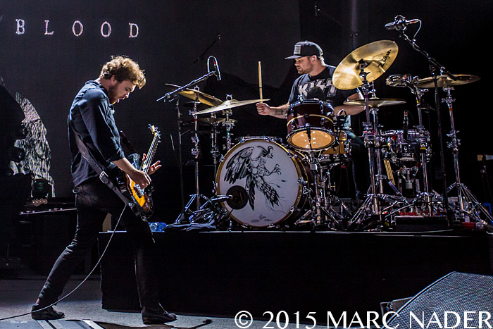Royal Blood performing on the Foo Fighters Sonic Highways Tour at DTE Energy Music Theatre in Clarkston, MI on August 24th 2015 Photo by Marc Nader