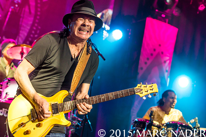 Santana performing on the Corazon Tour at DTE Energy Music Theatre in Clarkston, MI on August 28th 2015 Photo by Marc Nader