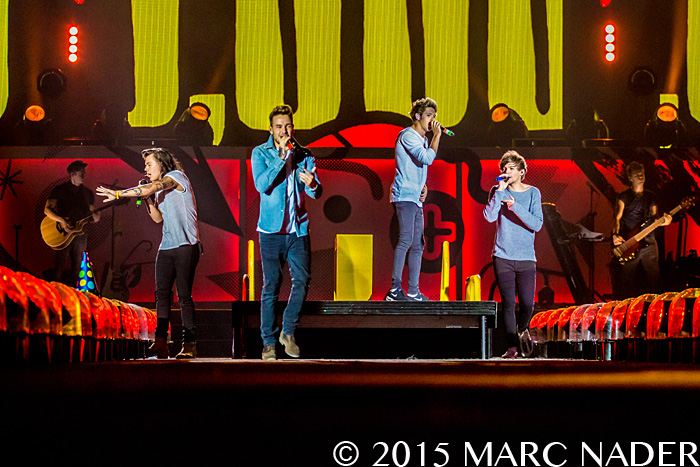 One Direction performing on their On The Road Again Tour at Ford Field in Detroit, MI on August 29th 2015 Photo by Marc Nader
