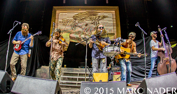 Packway Handle Band performing on Kid Rock's First Kiss: Cheap Date Tour at DTE Energy Music Theatre in Clarkston MI on August 7th 2015 Photo by Marc Nader