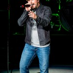 Tyler Farr performing on Jason Aldean's 2015 Burn It Down Tour at DTE Energy Music Theatre in Clarkston, MI on September 18th 2015 Photo by Marc Nader