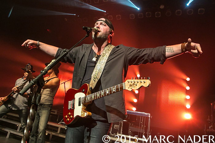 Lee Brice performing on the WYCD Presents Show at The Fillmore in Detroit, MI on October 22nd 2015 Photo by Marc Nader
