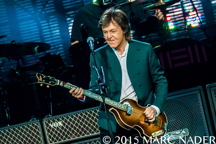 Paul McCartney performing on his Out There Tour at the Joe Louis Arena in Detroit, MI on October 21st 2015 Photo by Marc Nader